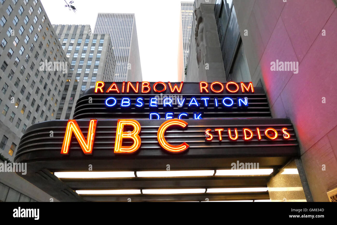 New York, USA. 23rd August, 2016.  The world headquarters for NBC News, the Saturday Night Live studios and the - Stock Image