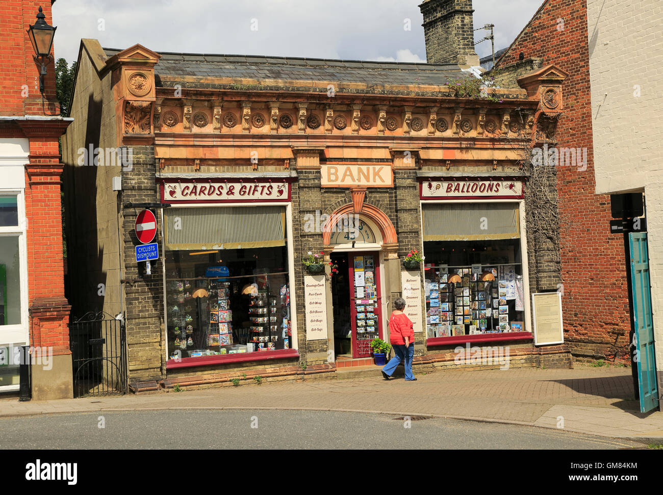 Former bank building converted into shop, Halesworth, Suffolk, England, UK - Stock Image