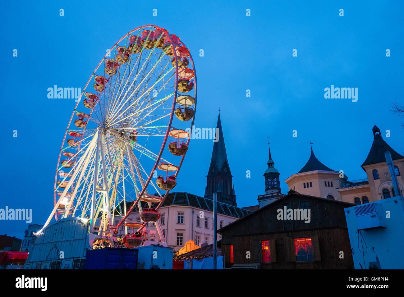 Giant Wheel, Schwerin, Mecklenburg Western Pomerania, Germany - Stock Image