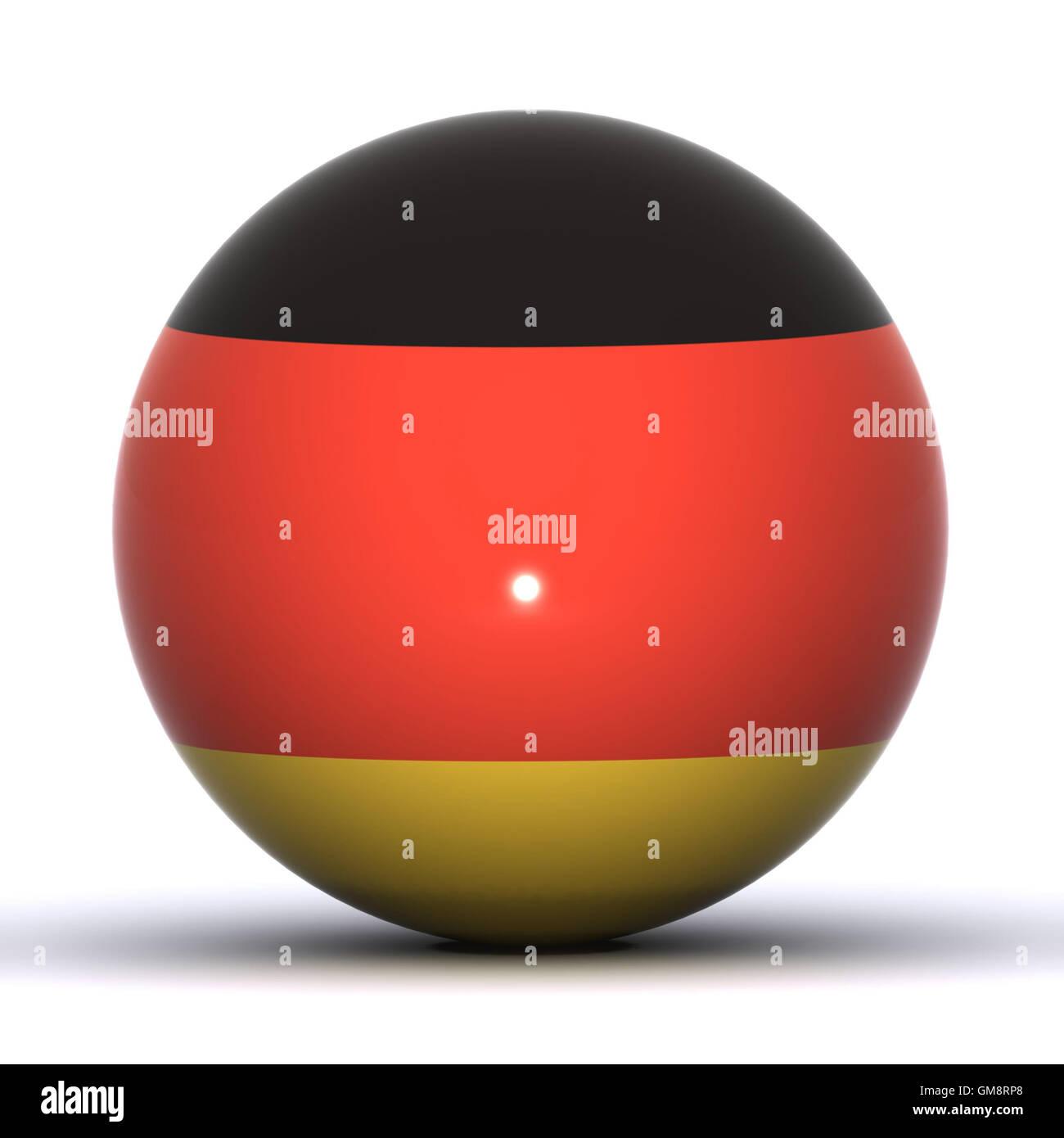 German Globe - Stock Image