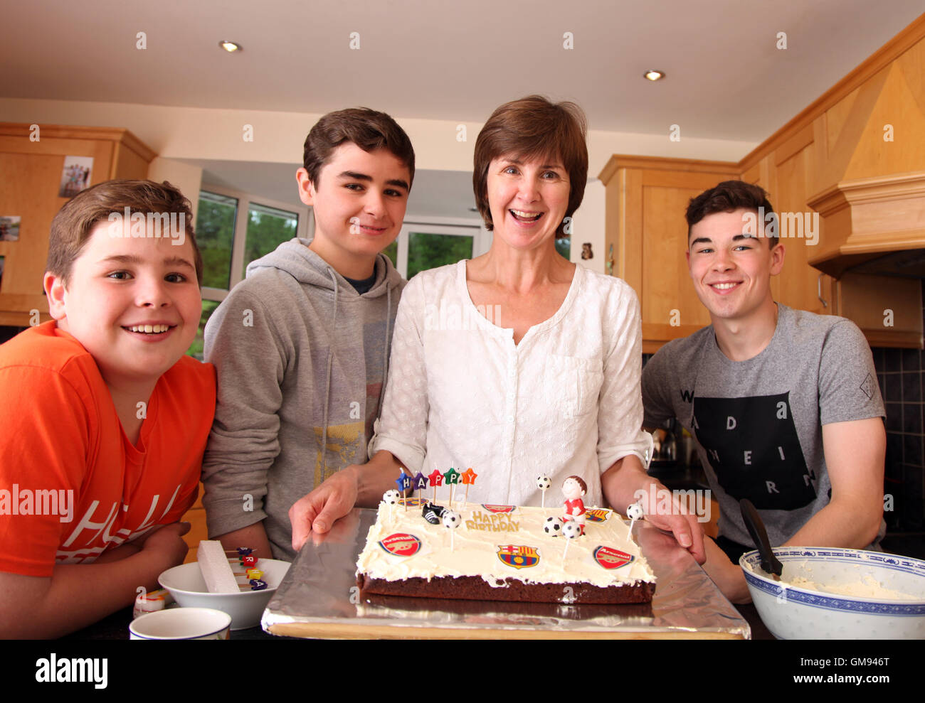 Family of home bakers - Stock Image