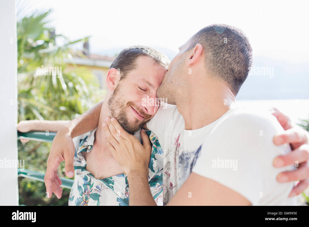Tender gay love making