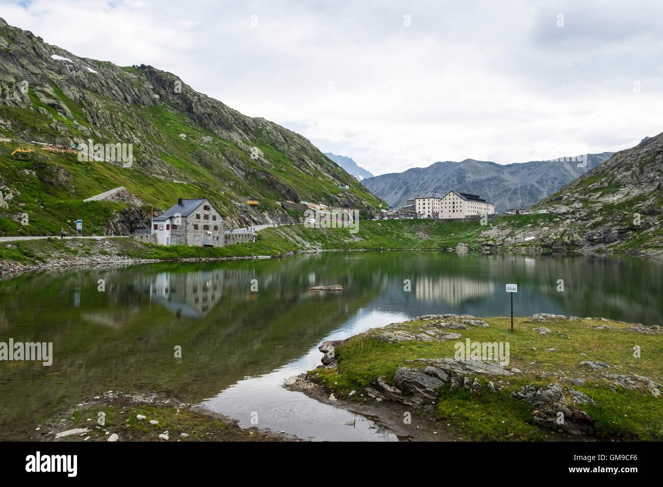 Italy, Valle d'Aosta, Aosta valley, Gran San Bernardo pass, landscape - Stock Image