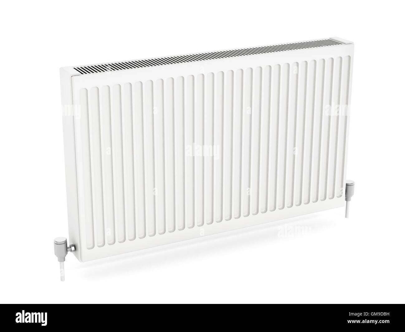 Radiator isolated on white background. 3D illustration. - Stock Image