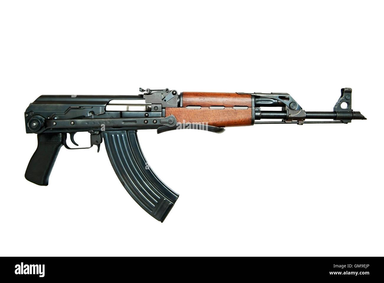 AK47 AKMS Kalashnikov Assault Rifle, Cut Out.