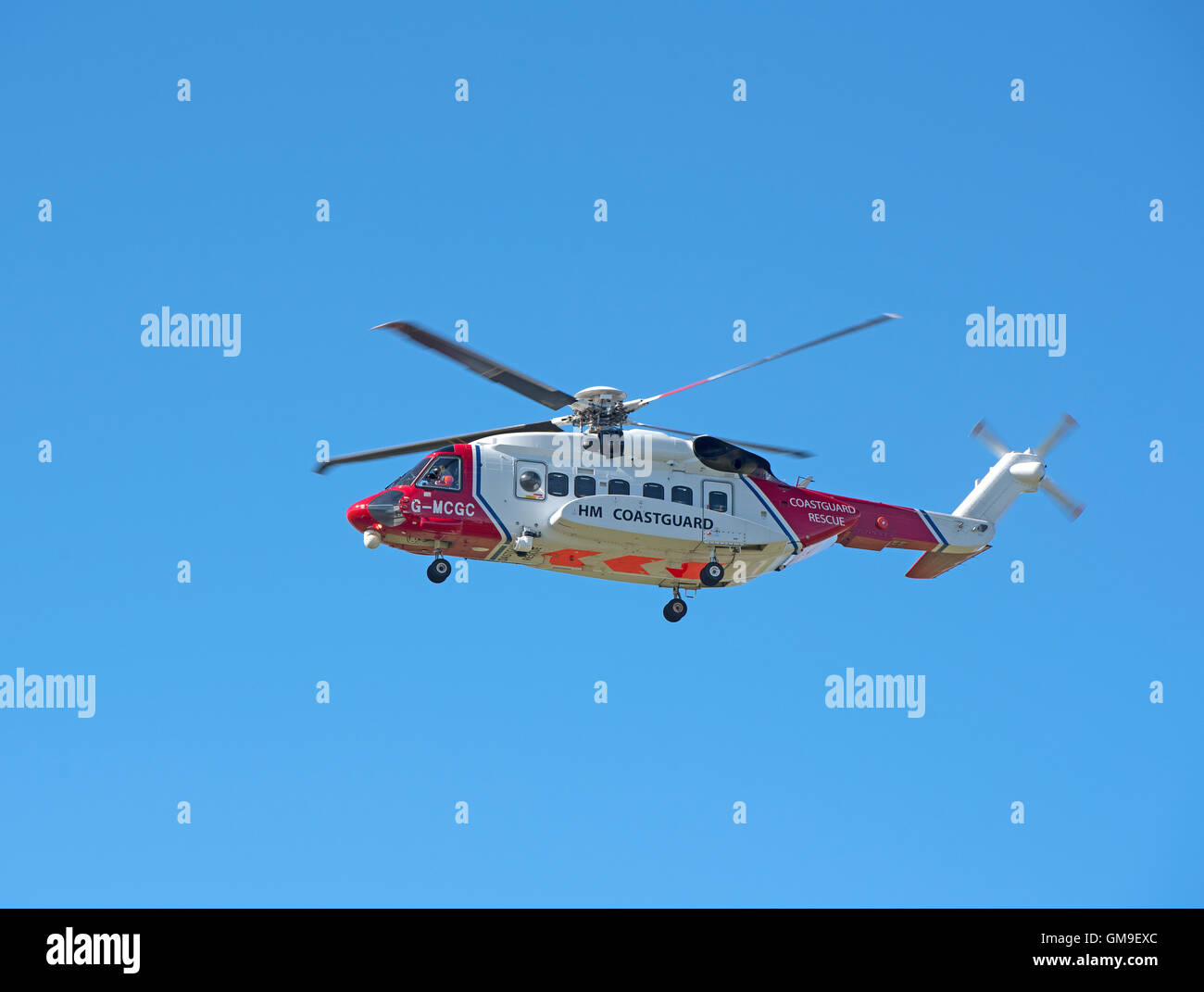Sikorsky S-92A Coastguard SAR Helicopter (G-MCGG) based at Inverness. SCO 11,188. - Stock Image