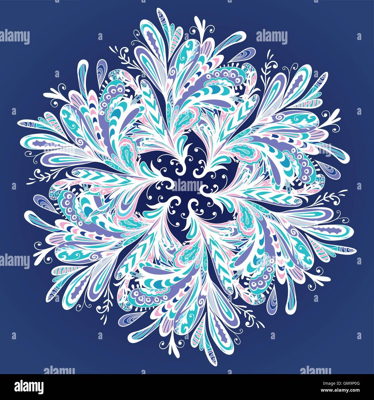 Winter Vector Mandala - Stock Image