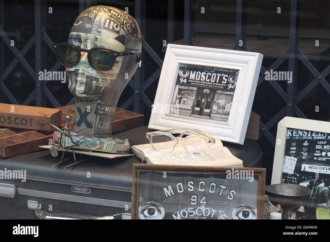 Moscots Eyewear Window Display - Stock Image