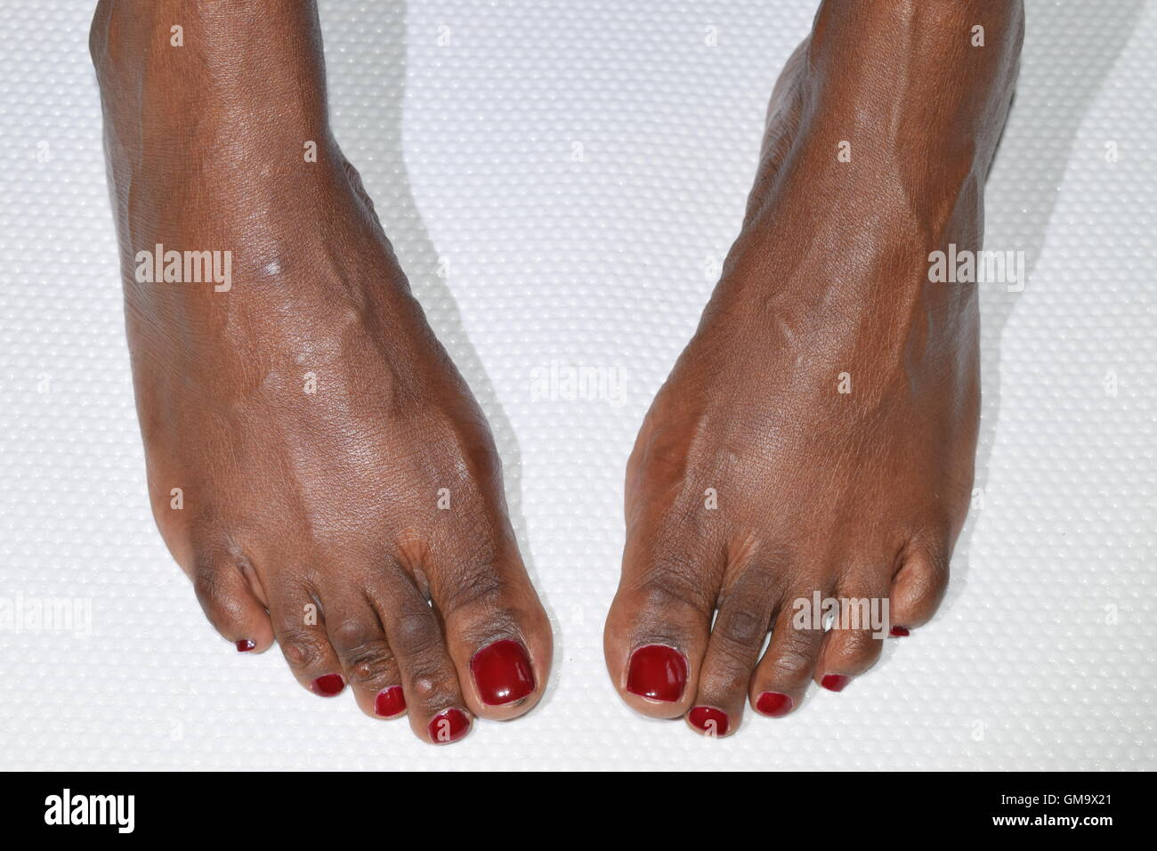 African Woman's Feet - Stock Image