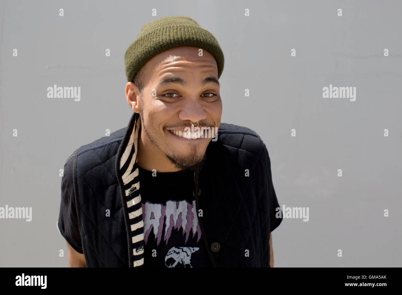 Anderson .Paak poses for portrait session on April 5, 2016 in Los Angeles, California, USA - Stock Image