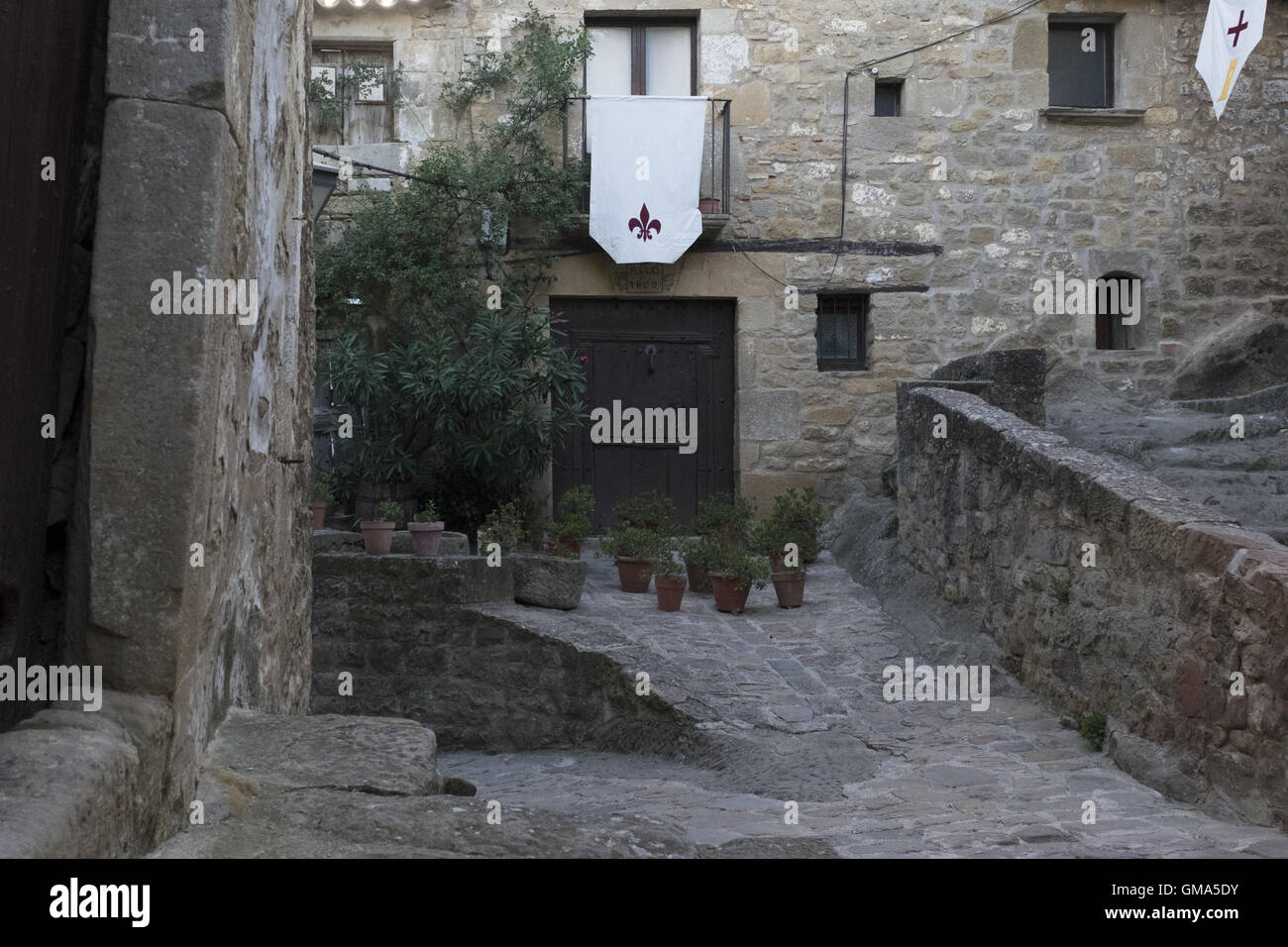 Old Jewish quarter in medieval times. - Stock Image