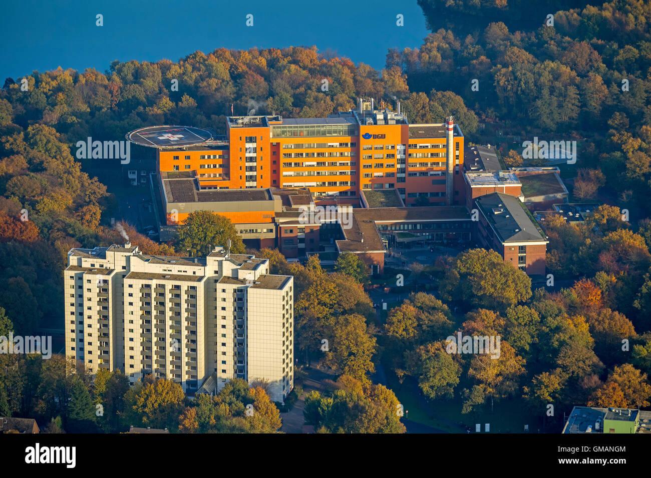 Aerial View Bgu Emergency Hospital Duisburg Grossenbaum Six Lake