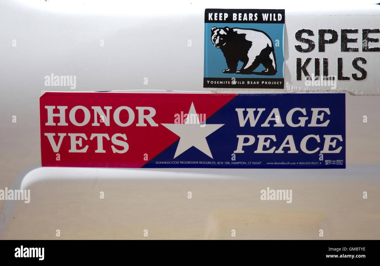Progressive Bumper Sticker - Stock Image