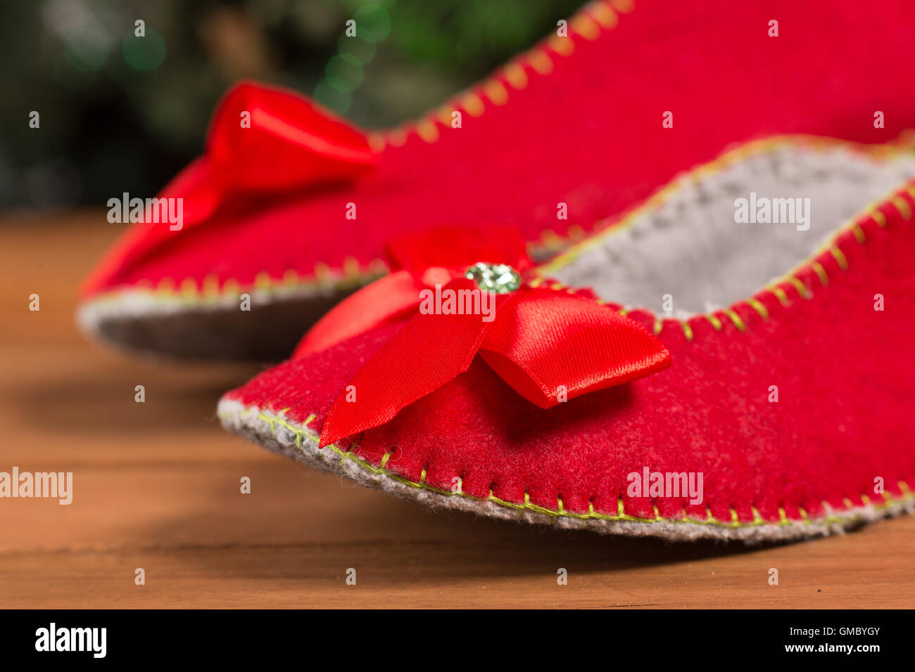 f0e9133876b Red house slippers Stock Photo  115818443 - Alamy