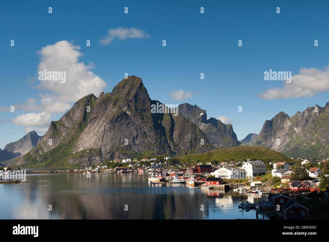 Olstinden and Reine Stock Photo