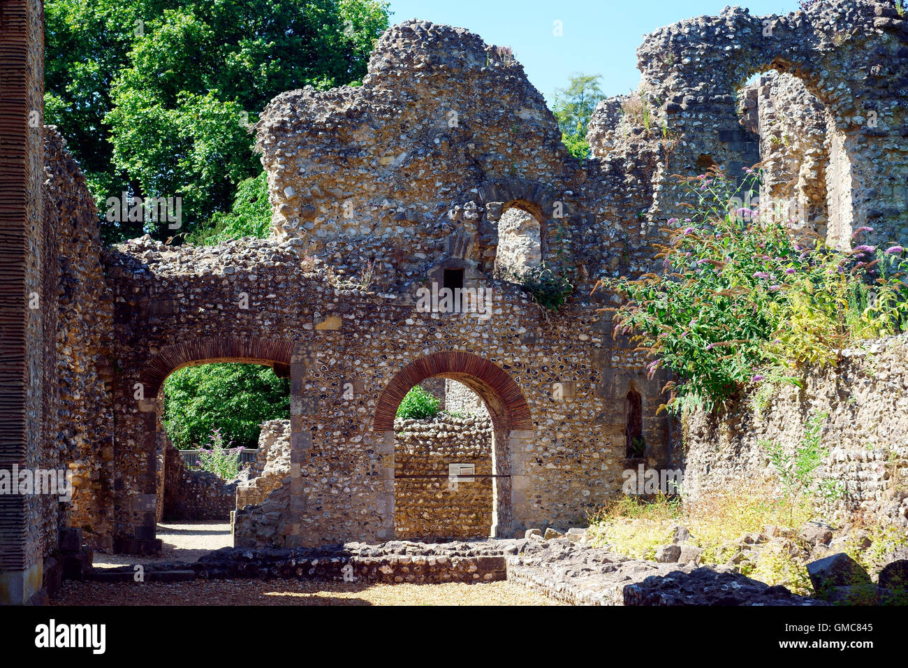 WOLVESLEY CASTLE FROM THE BAKE HOUSE TO THE TREASURY Stock Photo