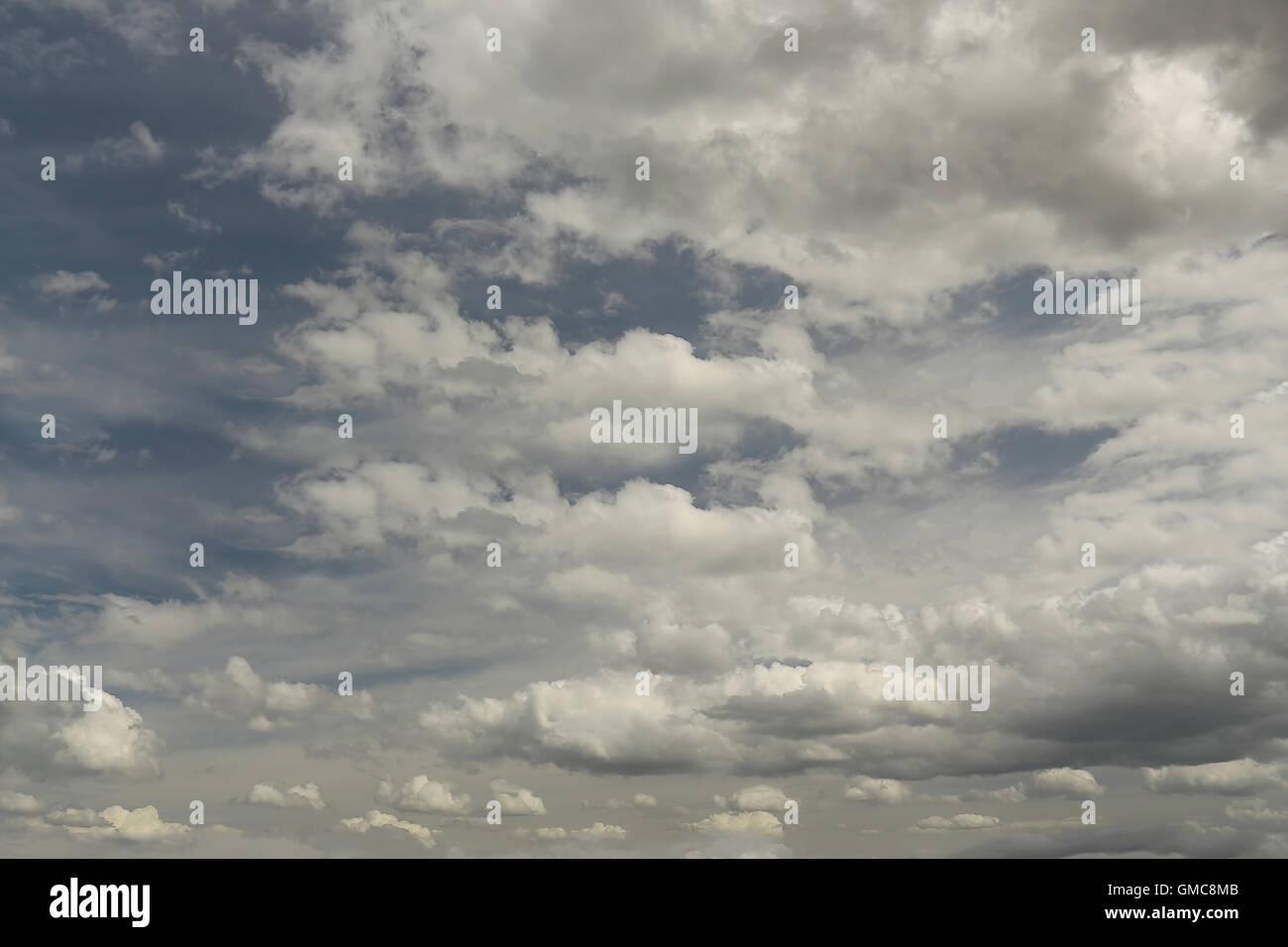 Partly cloudy variance - Stock Image