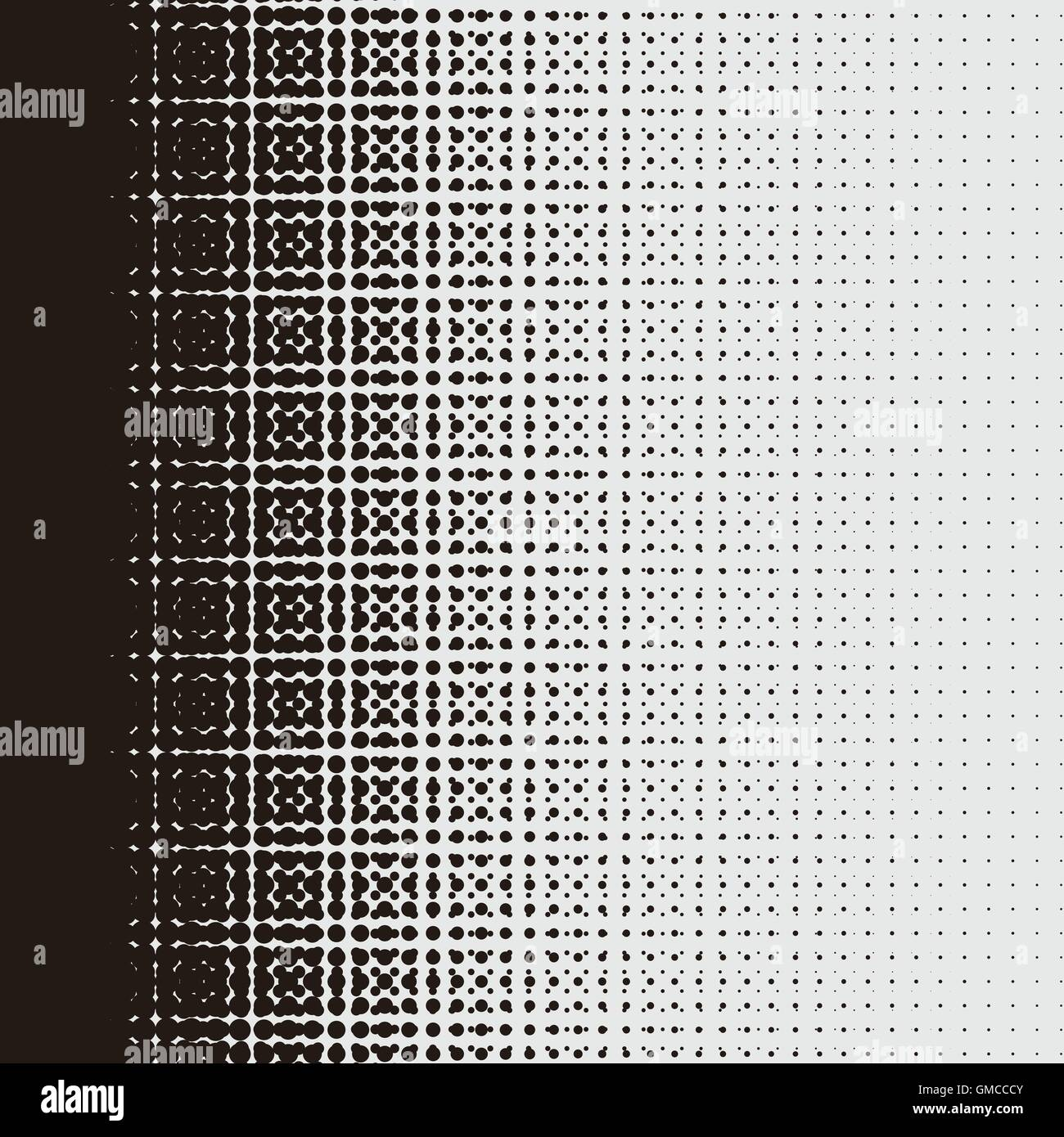 Simplicity dotted pattern design in halftone style - Stock Image