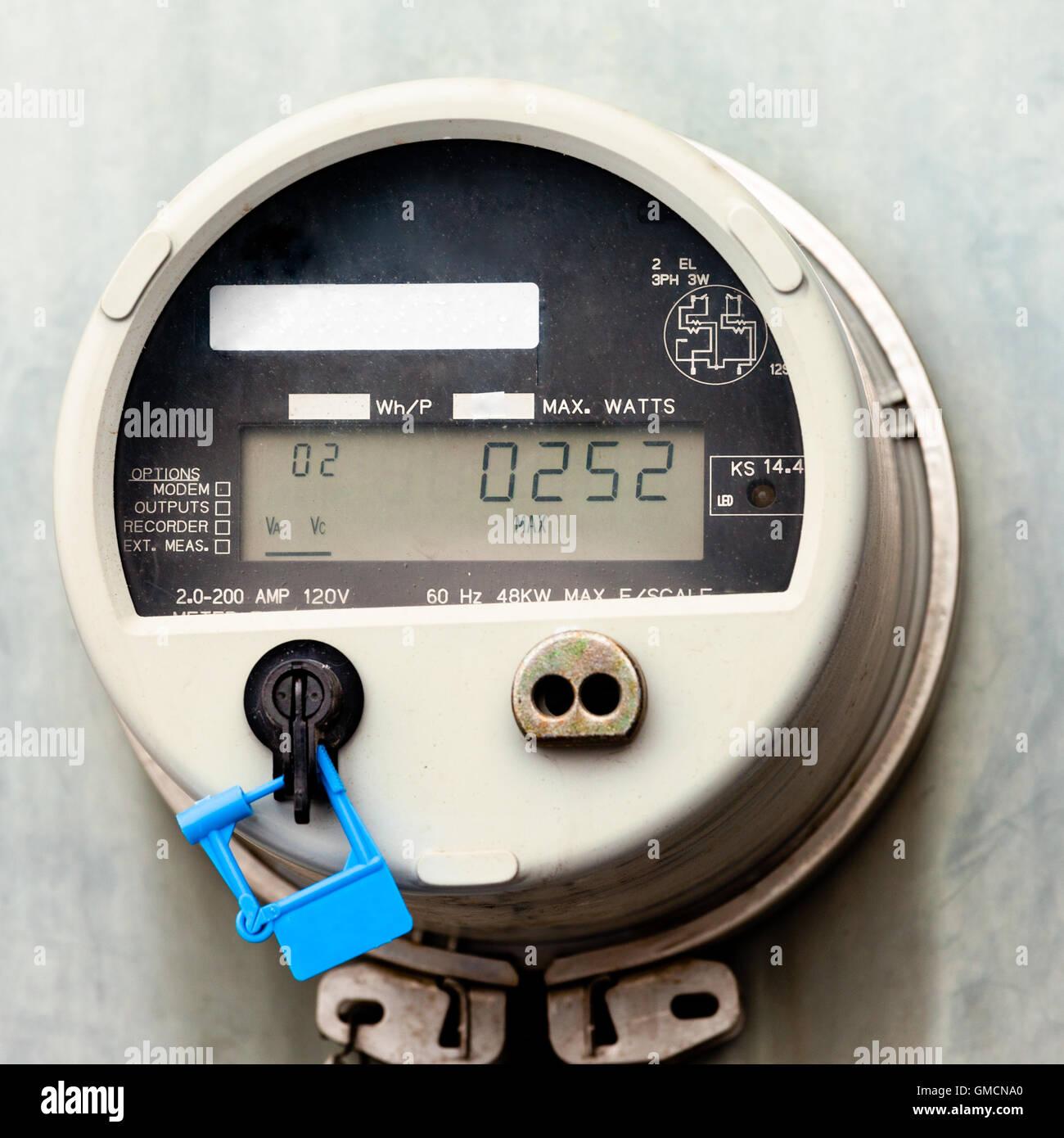 Smart grid residential digital power supply meter - Stock Image