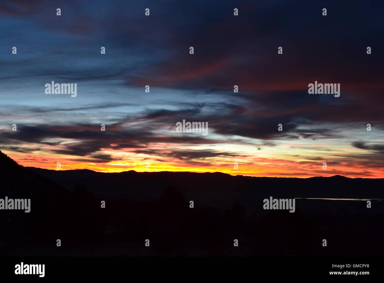 Cedar city Utah mountain range for the C trail - Stock Image