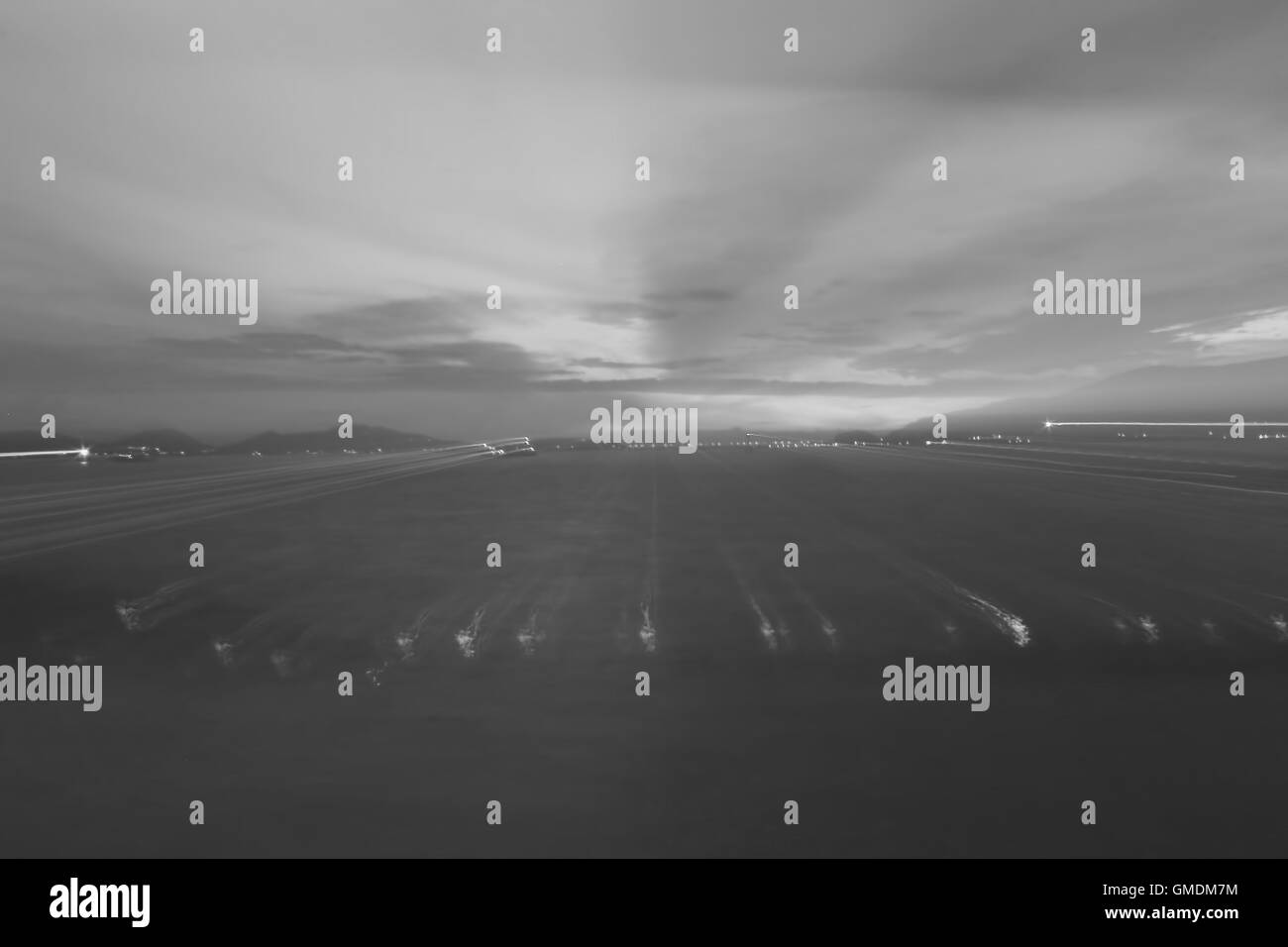 Dance the night light blurred background pattern - Stock Image