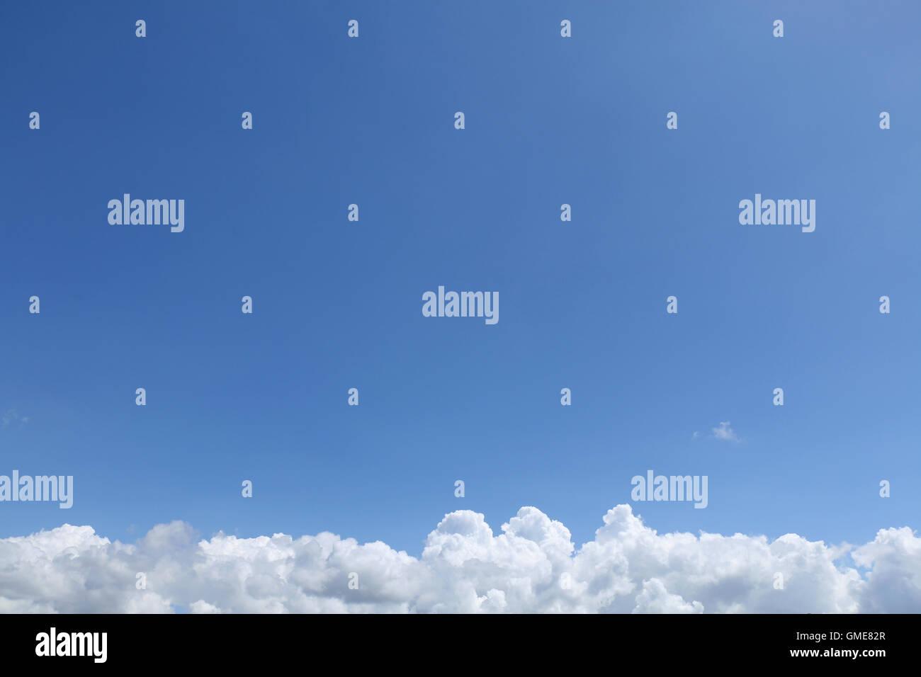 cumulonimbus cloud and blue sky background - Stock Image