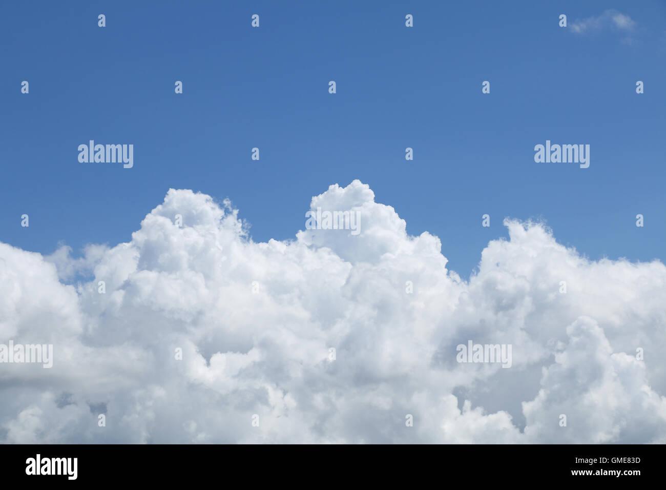 cumulonimbus cloud and blue sky background #2 - Stock Image