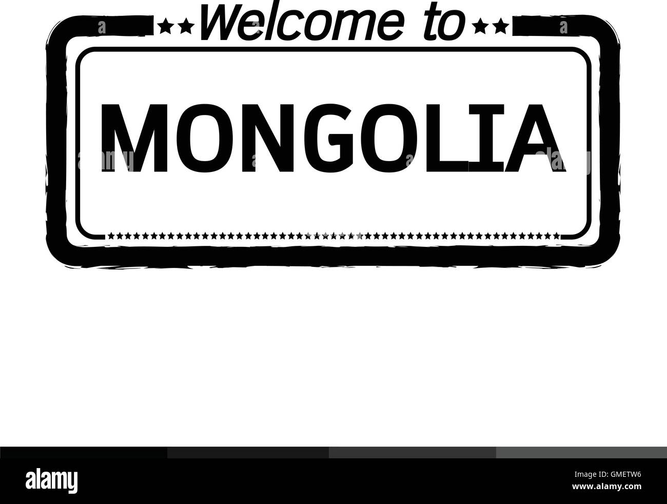 Welcome to MONGOLIA illustration design - Stock Vector