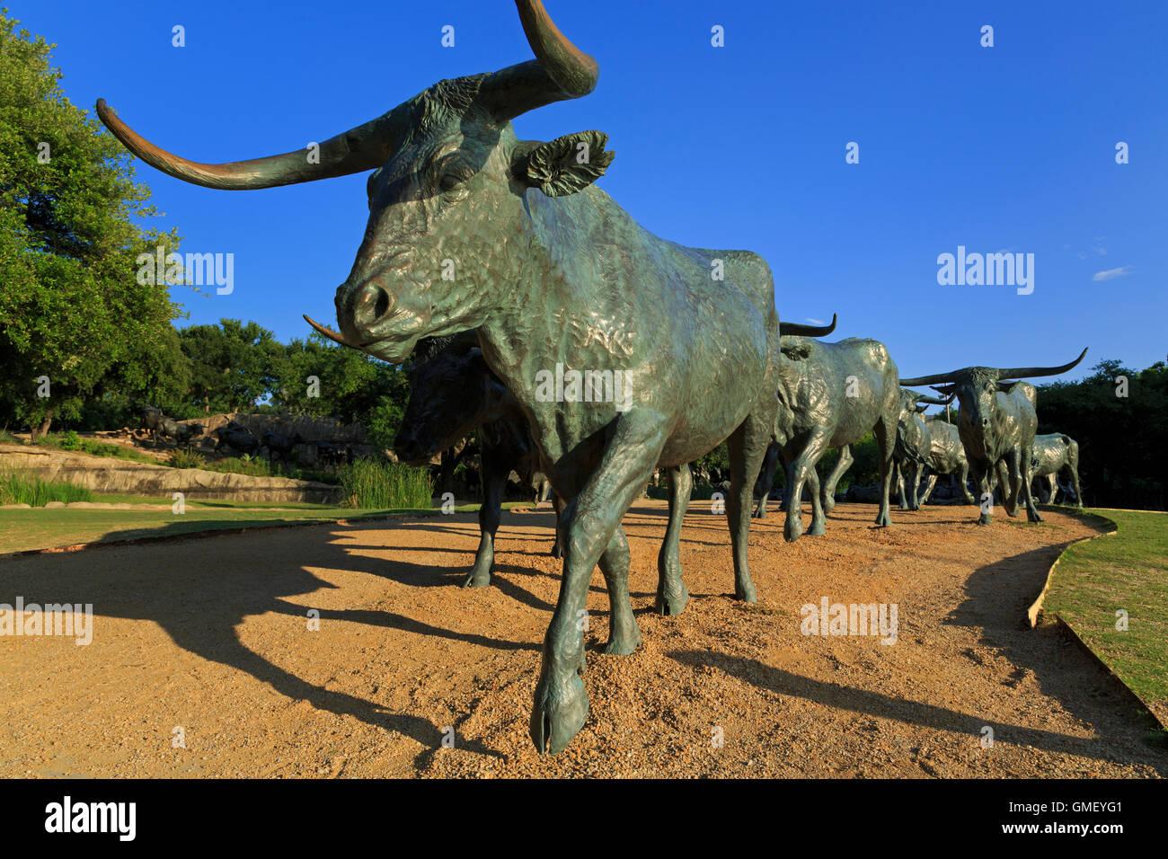 Pioneer Plaza, Dallas, Texas, USA - Stock Image
