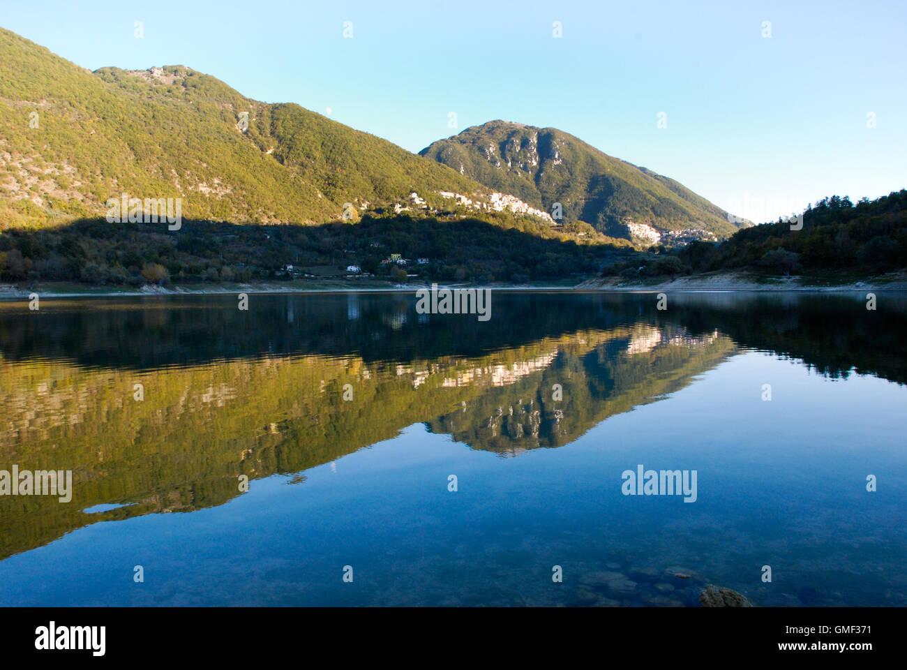 Lazio, Italy. Lake Turano Stock Photo