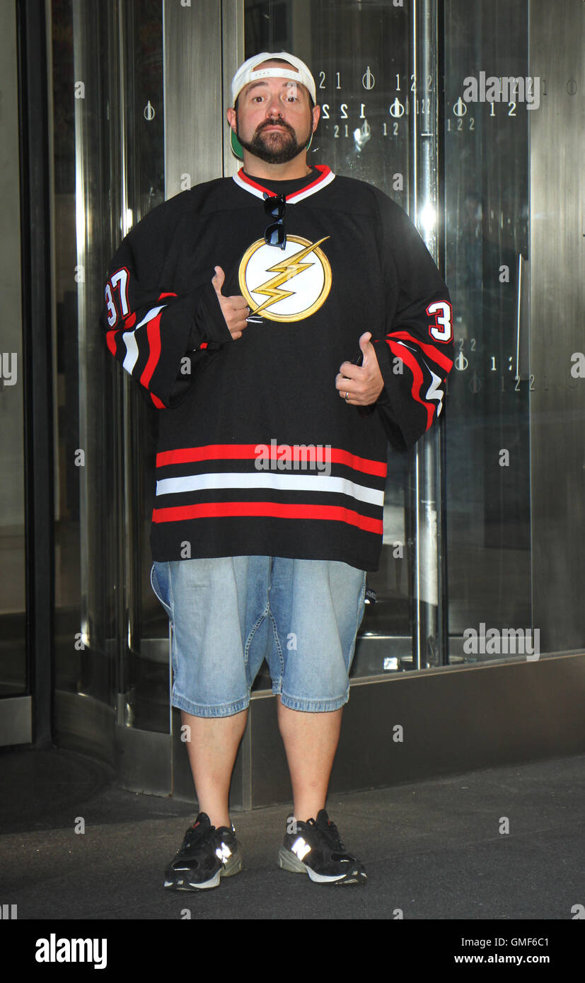 New York, USA. 25th August, 2016. Kevin Smith at SiriusXM to talk ...