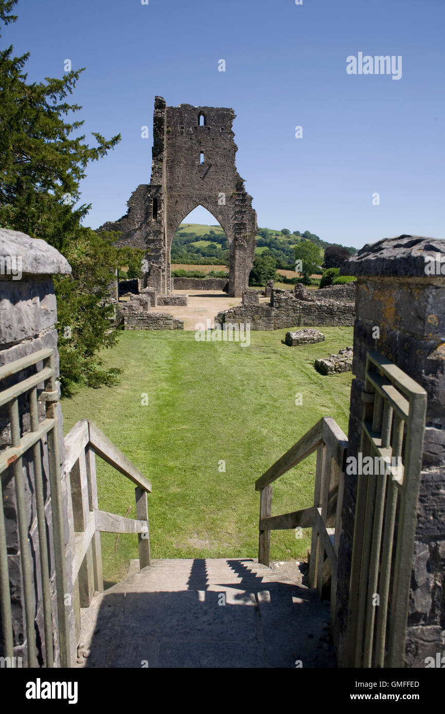 Gate leading to Talley Abbey - Stock Image