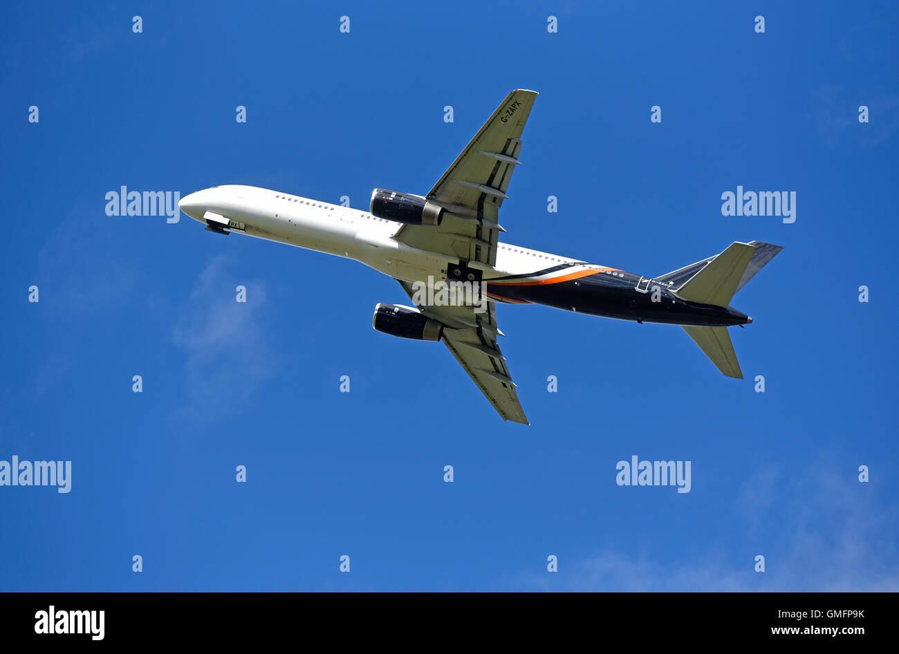 Boeing 757-200 Titan Airways Registration Serial  G-ZAPX      SCO 11,192. - Stock Image