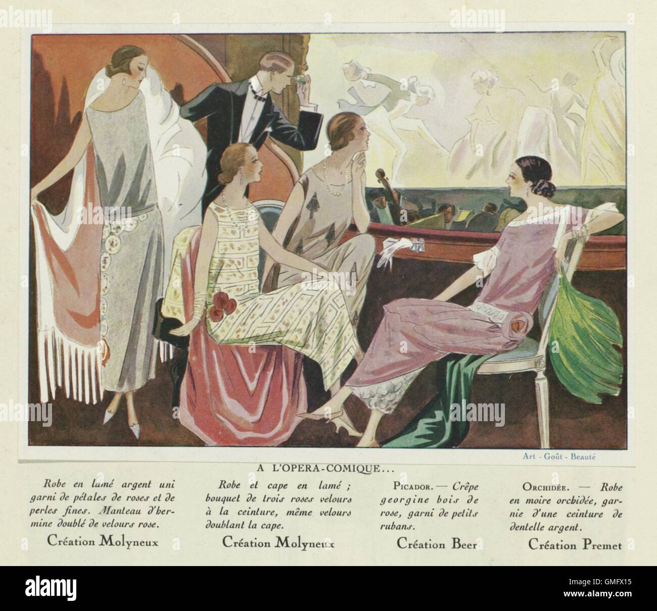 At the Comic Opera, by Anonymous, 1924, French magazine illustration (BSLOC_2016_2_121) - Stock Image