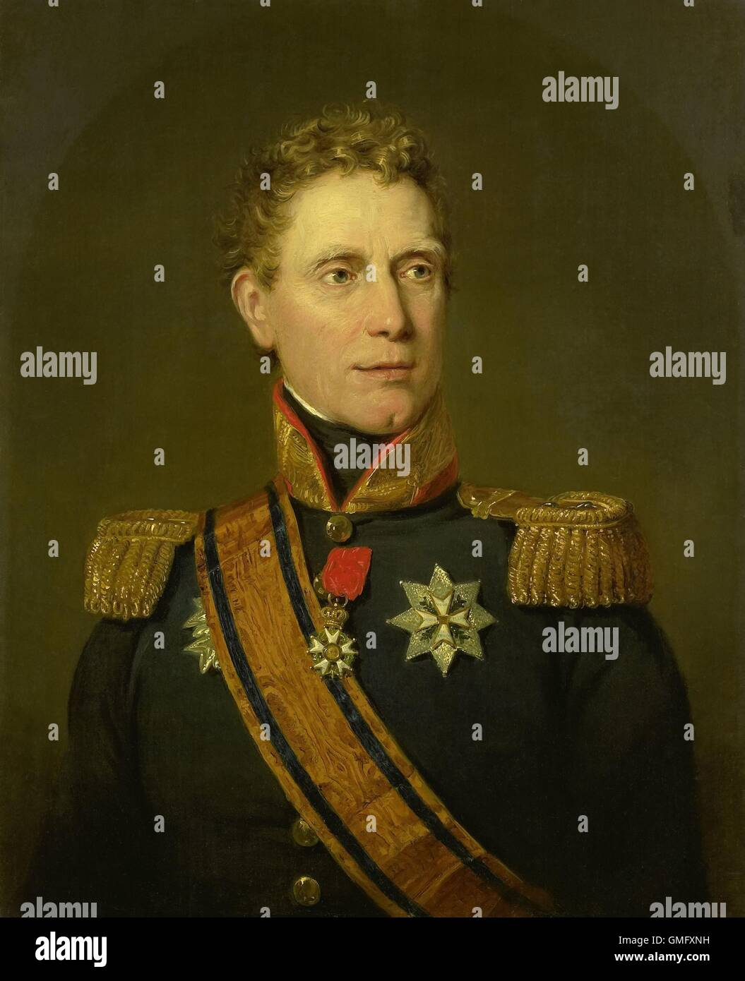 Jan Willem Janssens, Governor-General of the Dutch East Indies, 1811, by Jan Willem Pieneman, Dutch painting, oil - Stock Image