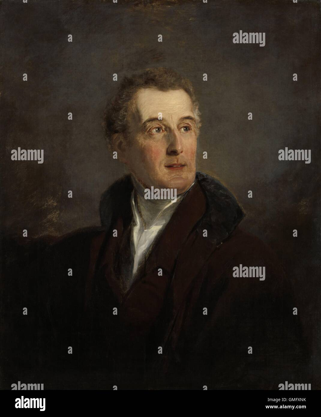 Portrait Study of Arthur Wellesley, Duke of Wellington, by Jan Willem Pieneman, 1821, Dutch painting, oil on canvas. - Stock Image