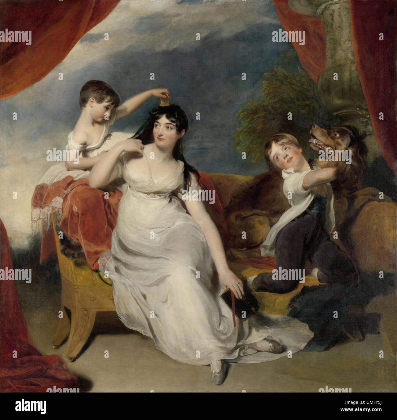 Maria Mathilda Bingham with Two of her Children, by Thomas Lawrence, c. 1810-18, oil on canvas. The painting previously - Stock Image