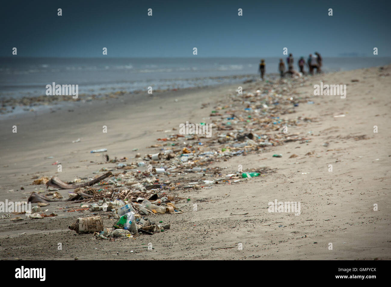 Yongoro, Sierra Leone - June 10, 2013: West Africa, the beaches of Yongoro in front of Freetown - Stock Image