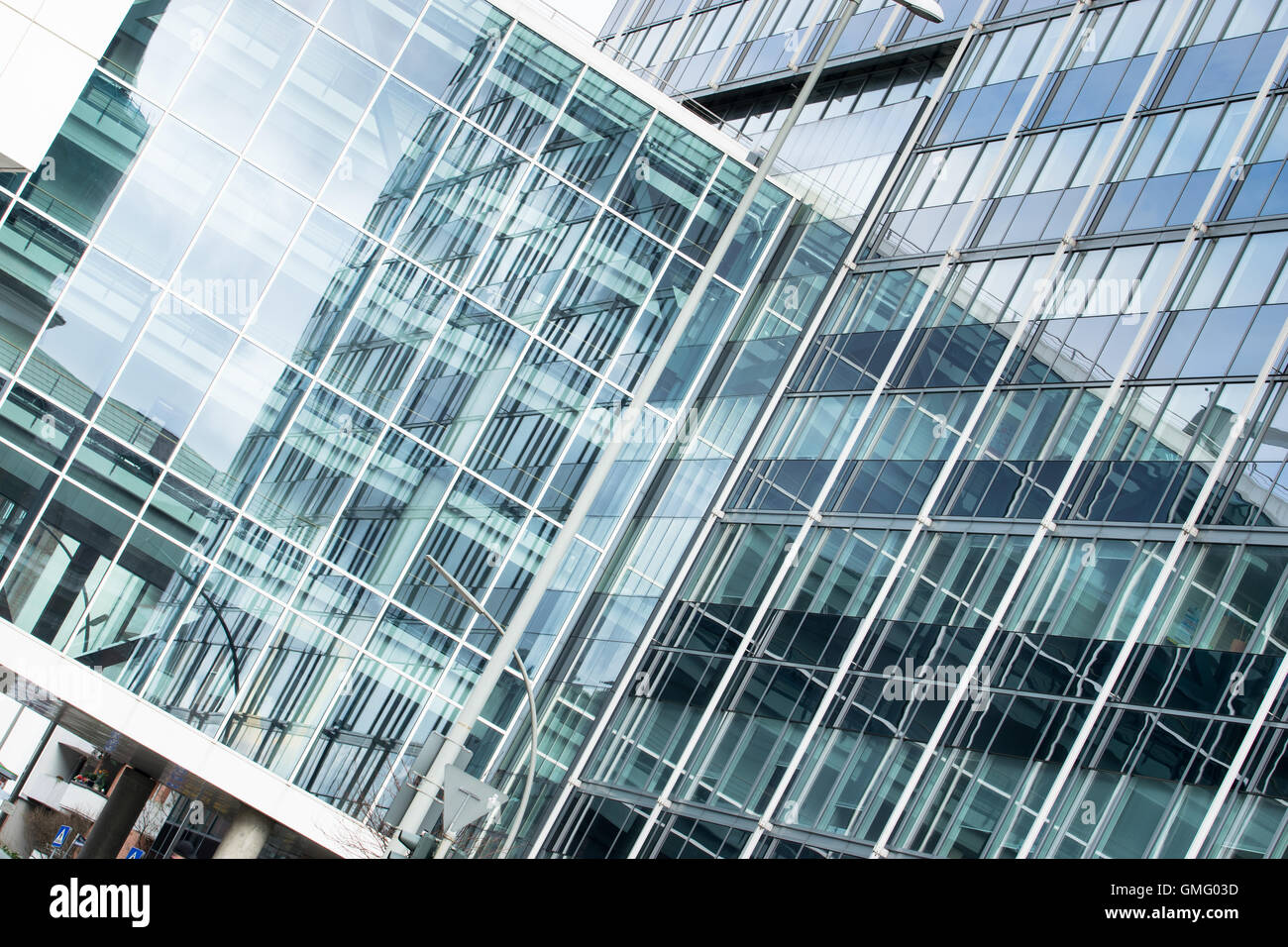 glass facade design office building. Diagonal Image Of A Glass Facade An Office Building In The City Design