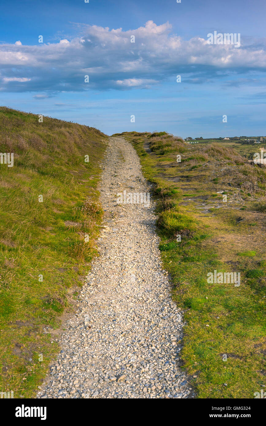 A deserted footpath in Cornwall. - Stock Image