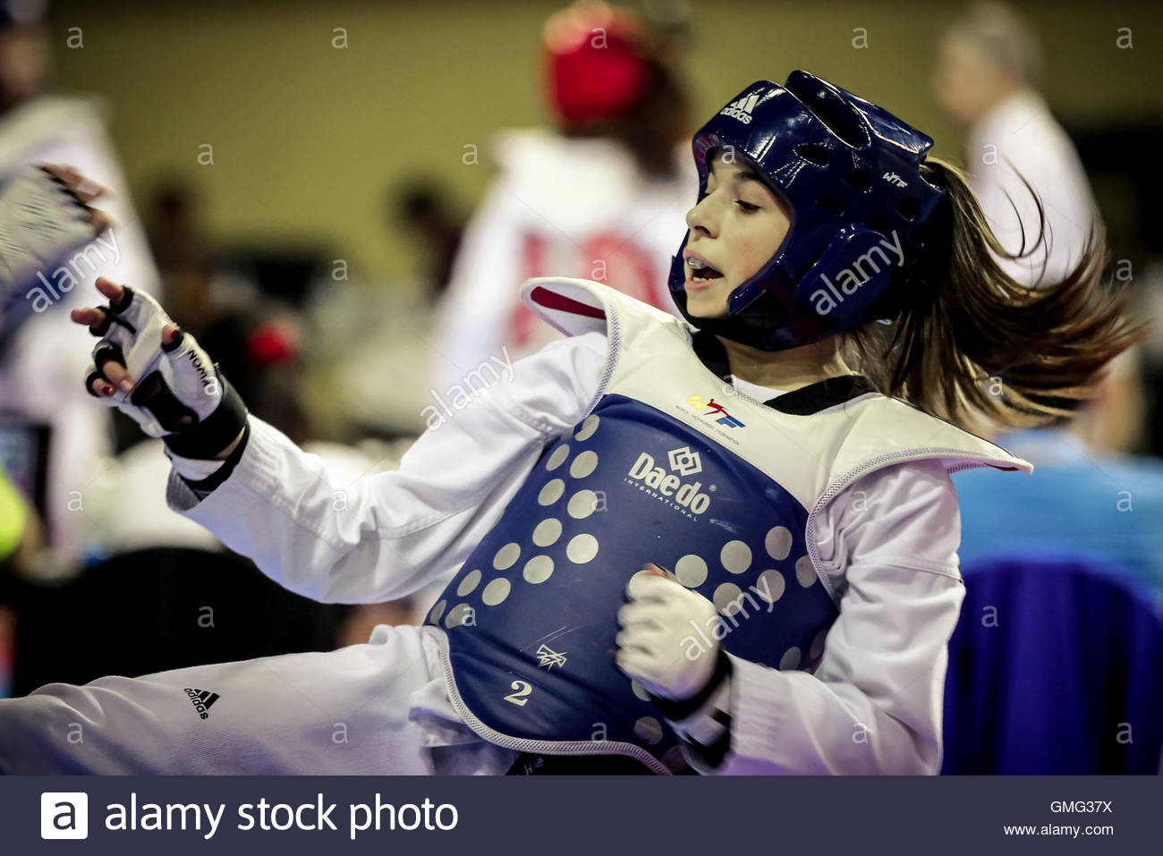 Athletes participating at the Canadian finals for the 2014 World Taekwondo Federation Youth Olympic Games, in Montreal, - Stock Image