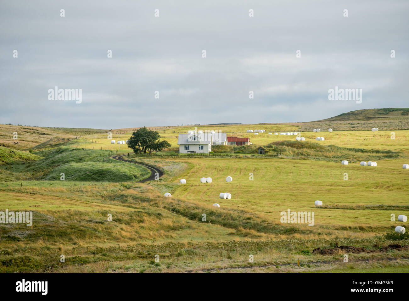 Hlidarendi countryside - renown from the Icelandic saga of Njal - Stock Image