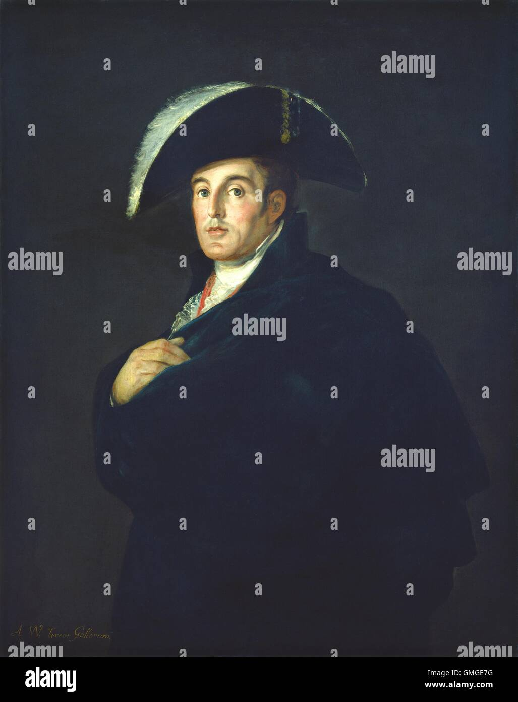 The Duke of Wellington, by Francisco de Goya studio, 1812, Spanish painting, oil on canvas. When this portrait was - Stock Image