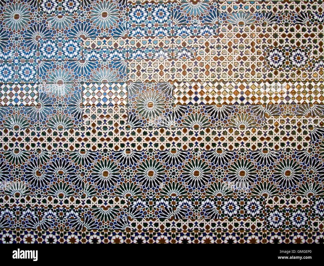 Patterned tiles at the Palacio de Congresos, Toledo, Spain Stock Photo