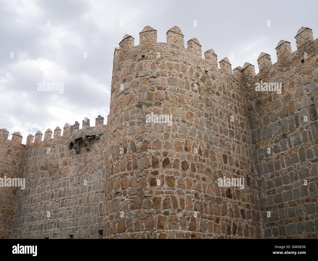 The medieval walls of Ávila, Castile and Leon, Spain Stock Photo