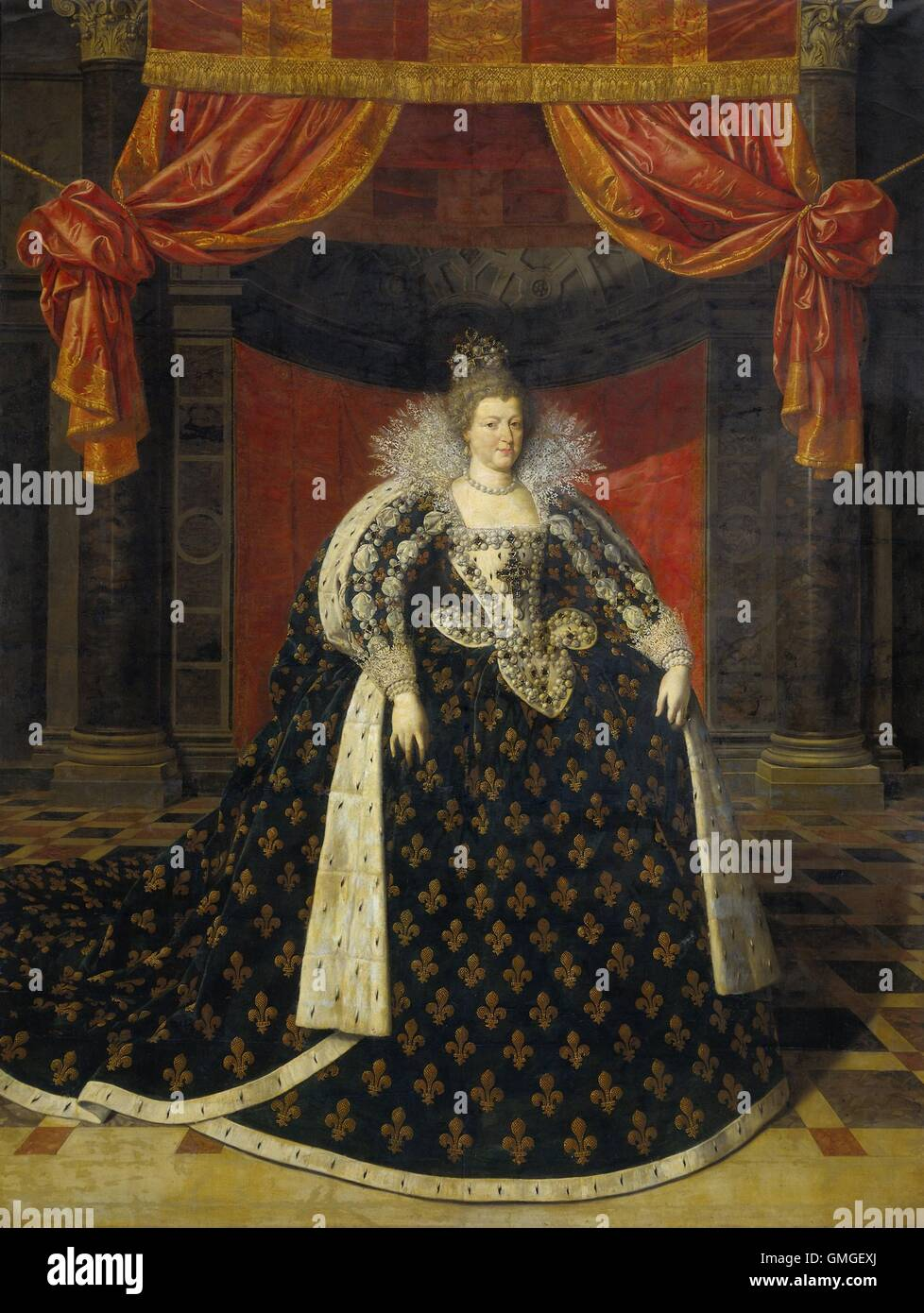 Marie de Medicis, Consort of Henry IV, King of France, by Frans Pourbus the Younger, c. 1600-20, Flemish painting, - Stock Image