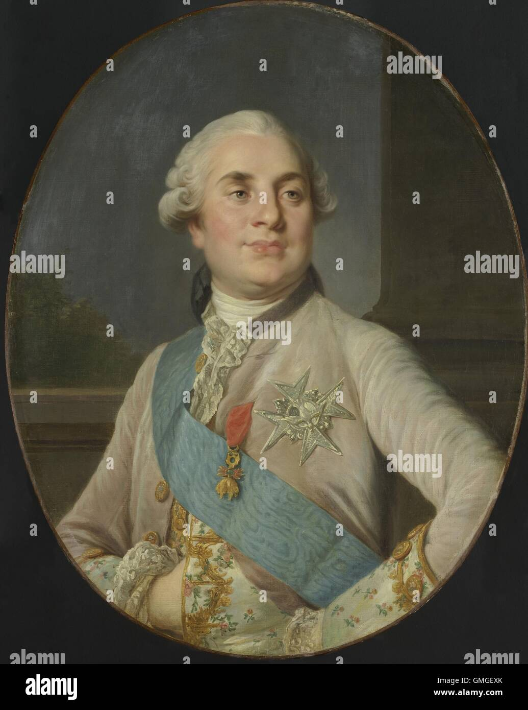 Portrait of Louis XVI, King of France, by Joseph Siffrede Duplessis, c. 1777-89, Dutch painting, oil on canvas. Stock Photo