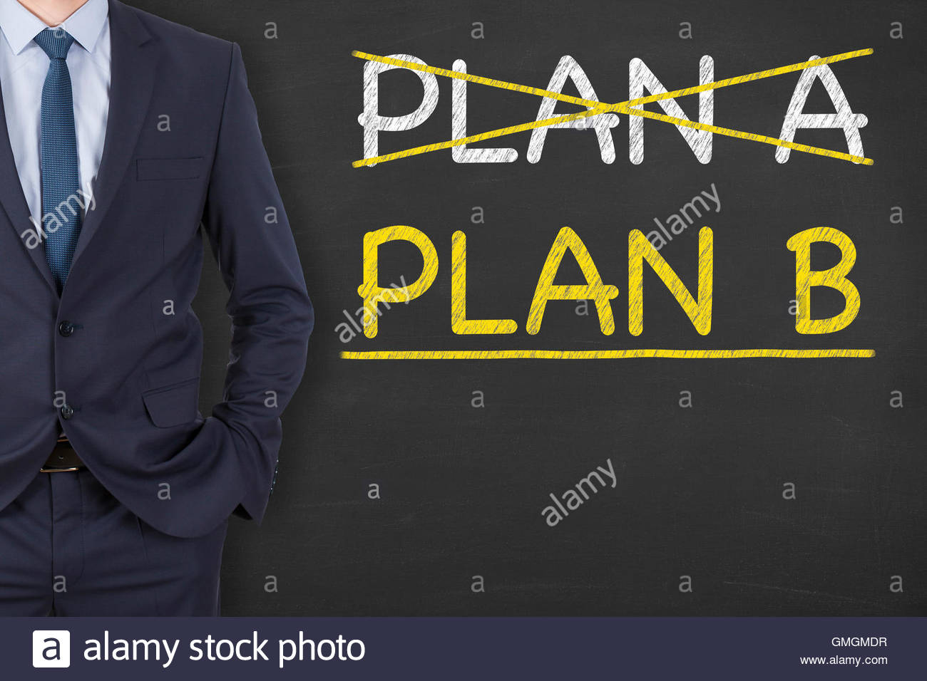 Plan A or Plan B on Chalkboard plan, individuality, choice, opportunity, decisions, concepts, modern, new, beginnings, - Stock Image