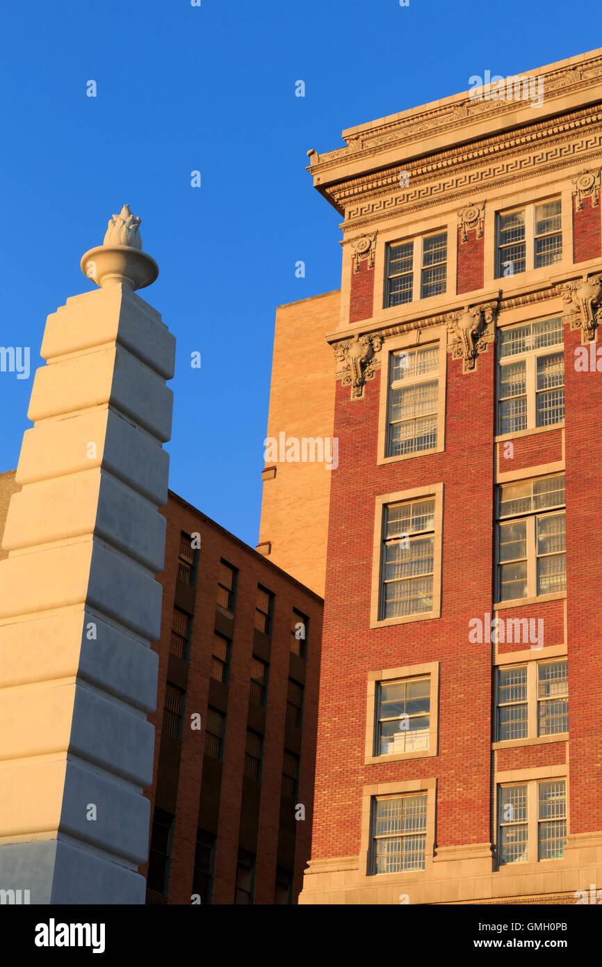Criminal Courts Building, Dealey Plaza, Dallas, Texas, USA - Stock Image