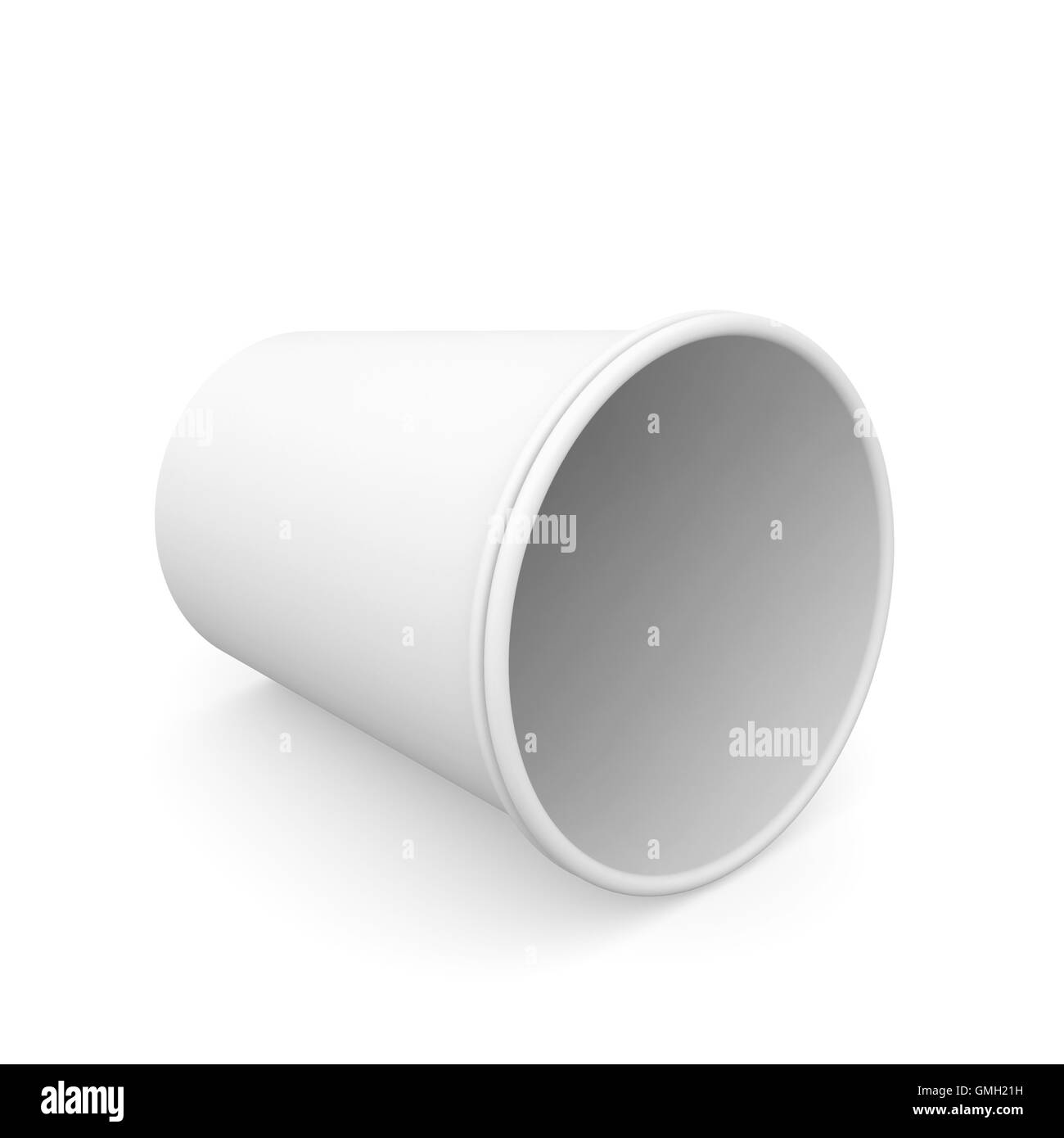 Group of white paper cups Stock Photo